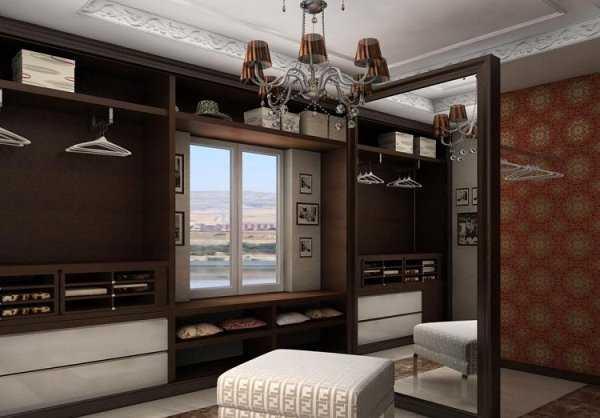 Стиль ар-деко и интерьер гардеробной в доме
