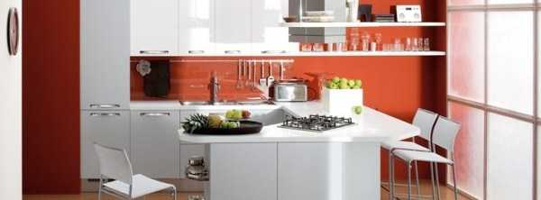 Белое и красное. Секреты «вкусной» мебели для кухни