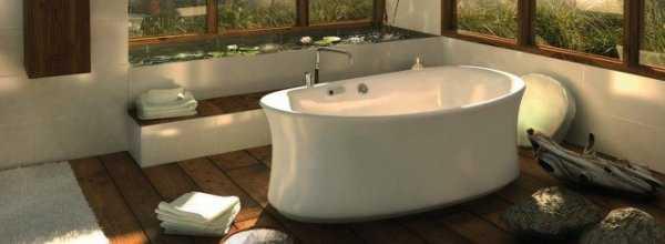 Нестандартная мебель для ванной и как организовать остров в ванной комнате