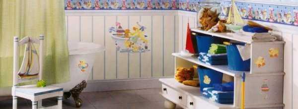 Ванная комната для ребенка: подбираем мебель