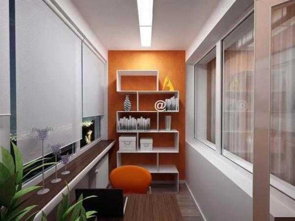 Обустройство рабочего кабинета на лоджии или балконе